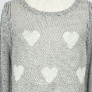 💰$20💰Lauren Conrad Grey Sweater with Hearts